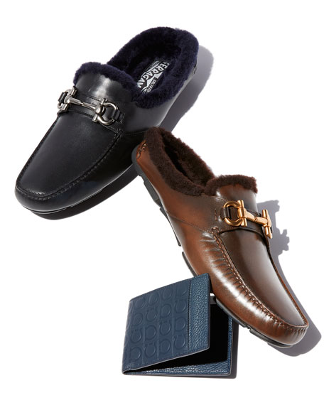 Men's Fur-Lined Driving Mule