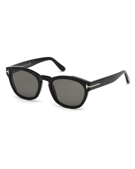 TOM FORD Bryan Rounded Plastic Sunglasses