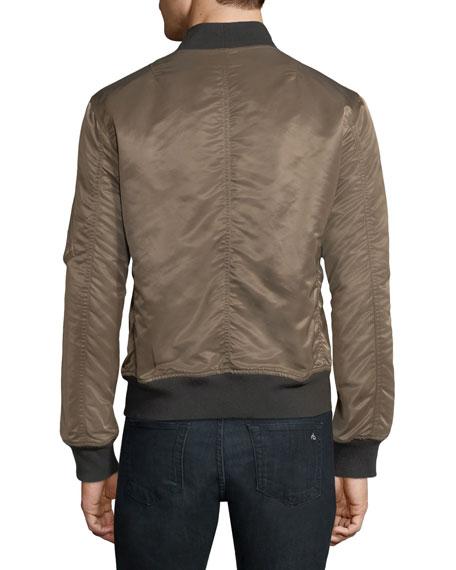 Manston Military-Style Nylon Bomber Jacket