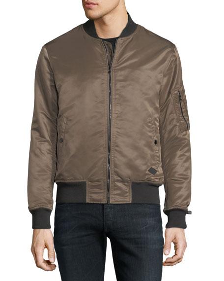 Men's Manston Military-Style Nylon Bomber Jacket