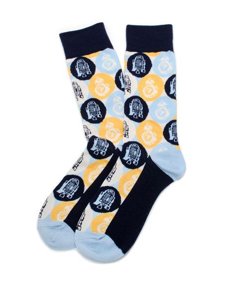 Star Wars R2D2 & BB8 Droid Pop Art Socks