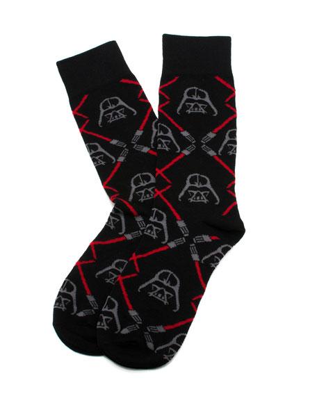 Star Wars Darth Vader Lightsaber Socks