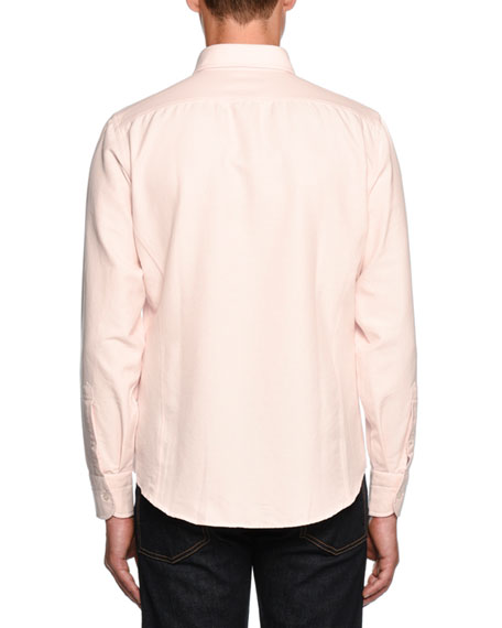 Tailored-Fit Oxford Sport Shirt, Pink