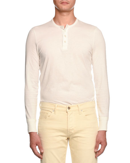 Cotton Henley T-Shirt