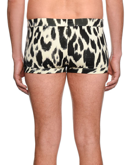 Graphic-Print Swim Shorts