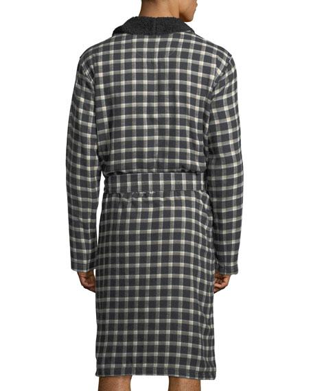 Kalib Plaid Fleece-Lined Robe