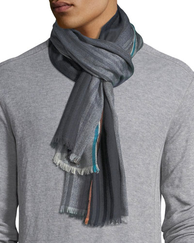 Triple-Graded Striped Scarf