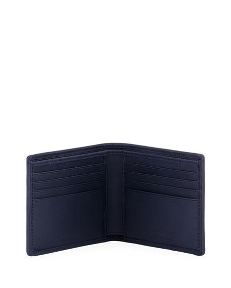 Pelle Tessuto Leather Bifold Wallet