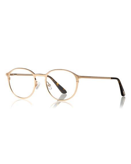 b56f195b42 TOM FORD Round Optical Glasses w  Magnetic Clip on