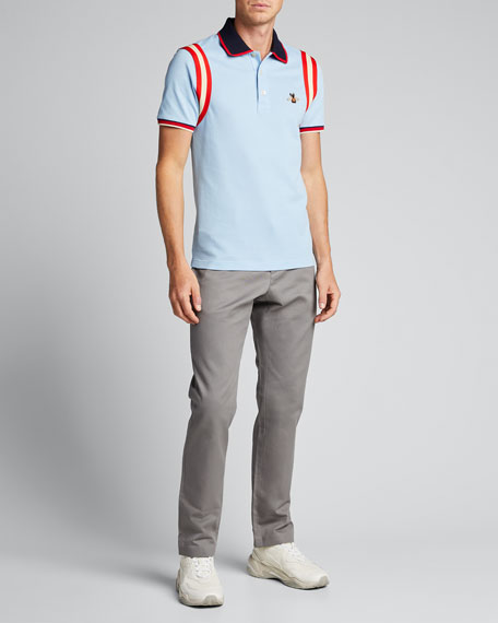 d9aff508 Gucci Bee-Embroidered Polo Shirt