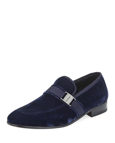 Velvet Formal Loafer, Navy