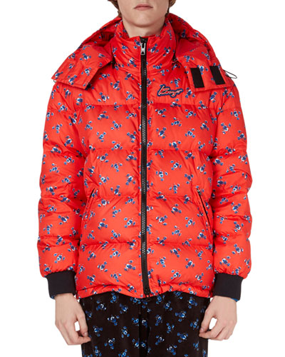 La Collection Memento N°1 Floral Puffer Coat