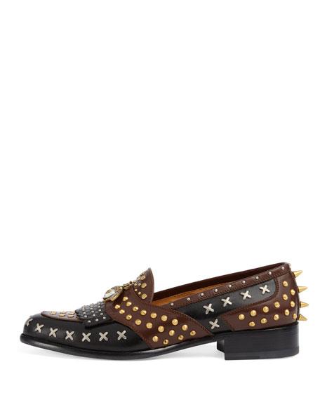 Studded Leather Loafer
