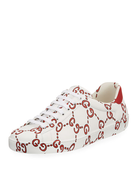 1bb0f988fa52e7 Gucci Ace dragon embroidered sneakers Source · Gucci Ace Sneaker with GG  Print