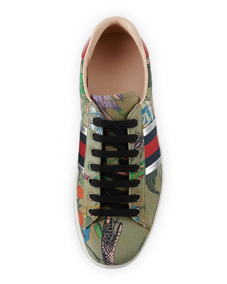 New Ace Canvas Print Low-Top Sneaker