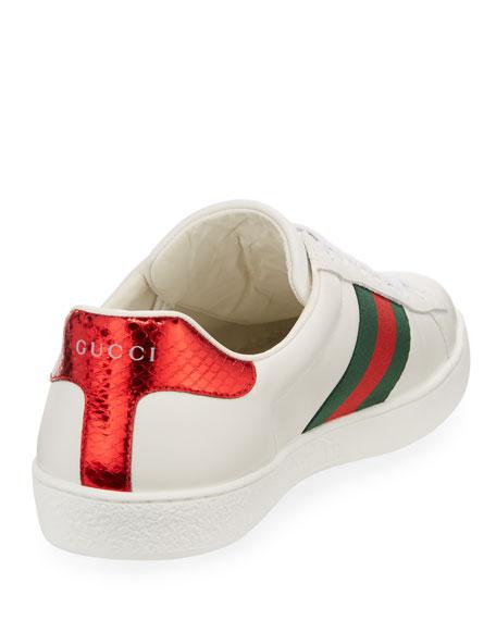 New Ace Men's Snake Sneaker, White
