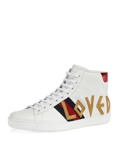 gucci shoes lion. new ace loved high-top sneaker quick look. gucci shoes lion