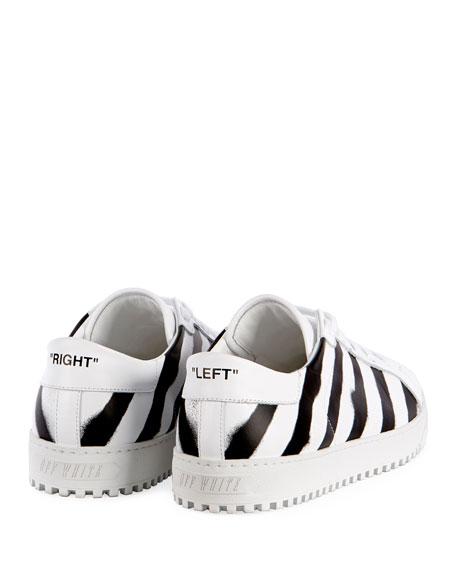Diagonal Spray-Stripe Fashion Sneaker