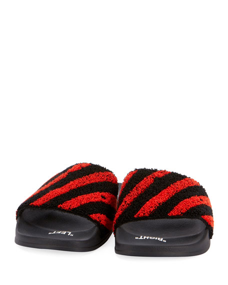 Fly Striped Knit Slide Sandal
