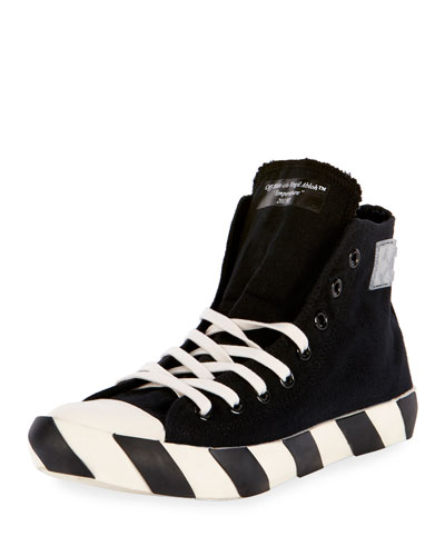 Striped-Sole High-Top Sneaker