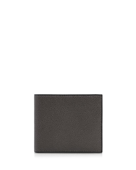 Pebbled Leather Bi-Fold Wallet