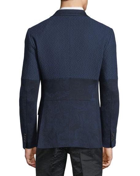 Patched Jacquard Jacket