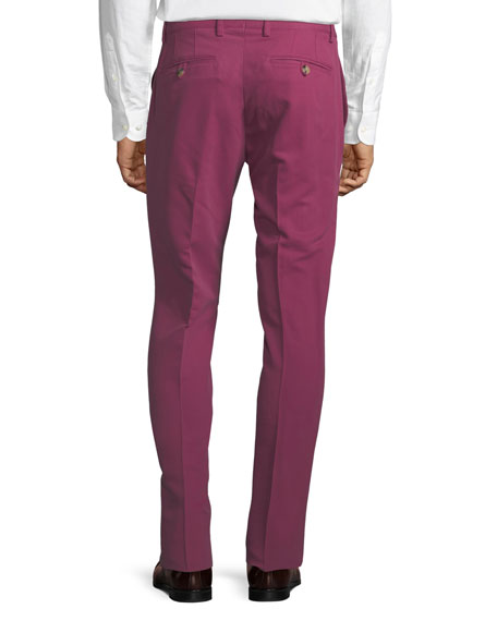 Cuba Flat-Front Twill Pants