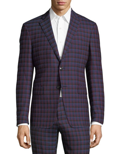 Check-Print Wool Sport Coat