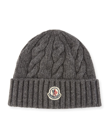 Moncler Men s Cable-Knit Wool Beanie Hat d8d00f45d9f