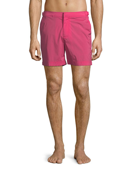 Orlebar Brown Bulldog Solid Swim Trunks, Bright Fuchsia
