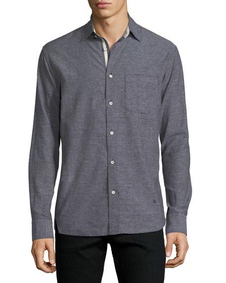 Men's Beach Contrast-Face Shirt