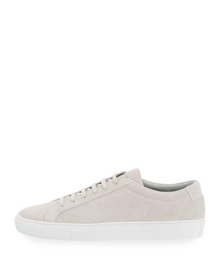 Men's Achilles Suede Low-Top Sneakers, Gray