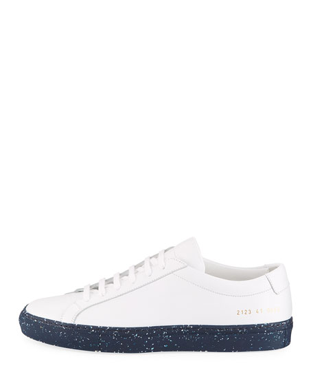 Men's Achilles Leather Low-Top Sneakers with Confetti Sole