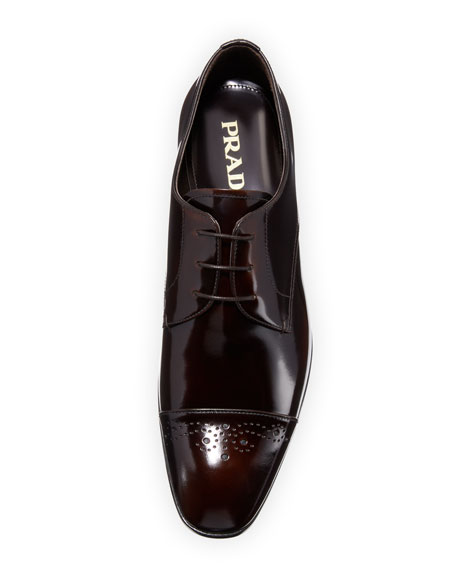 Spazzolato Fume Lace-Up Oxford