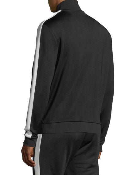 Side-Striped Zip-Front Jacket
