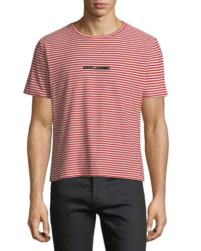 Striped Logo-Graphic T-Shirt