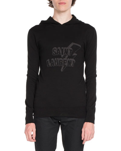 Graphic-Front Logo Hoodie