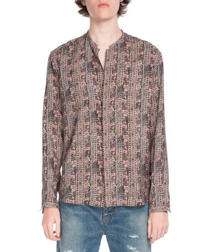 Graphic Stripes Long-Sleeve Shirt