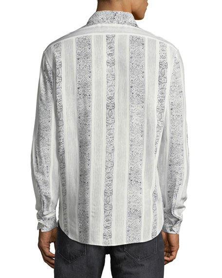 Collection Yves Graphic-Stripe Sport Shirt
