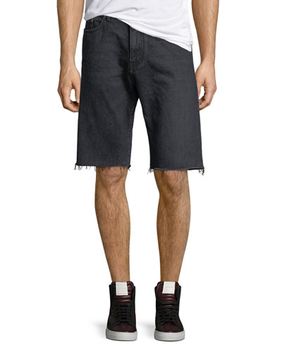 Raw-Edge Bermuda Shorts