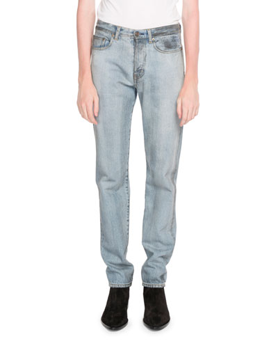 Slim-Fit Embroidered Jeans