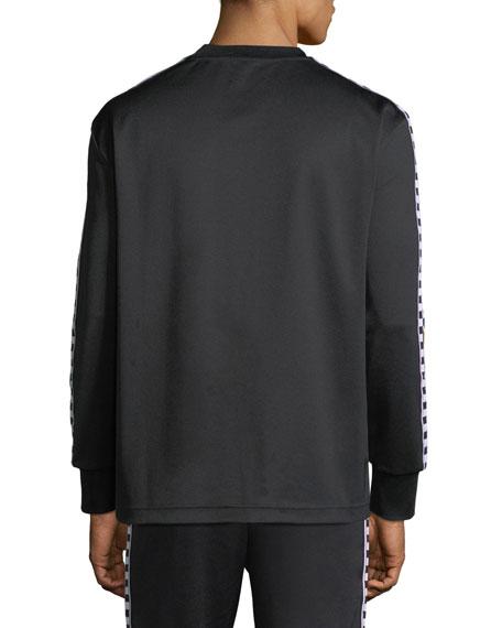 Checked Band Long-Sleeve T-Shirt