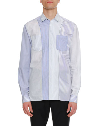 Striped Pocket Sport Shirt