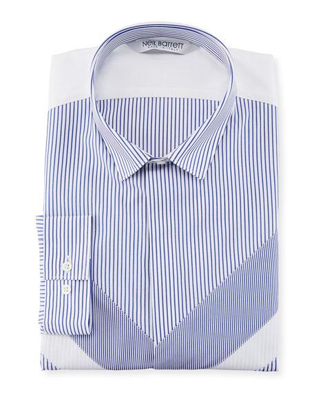 Striped Modernist Sport Shirt