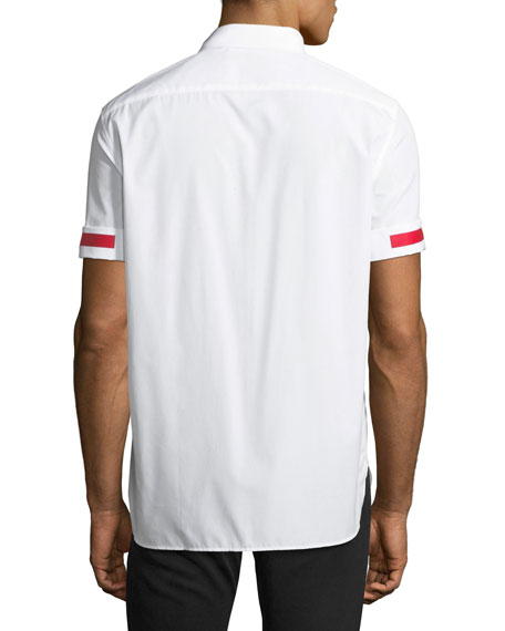 Taped Roll-Sleeve Shirt