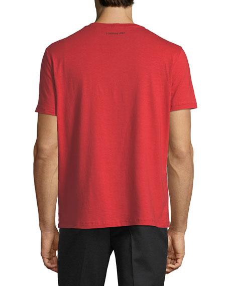 Live Now Wording Crewneck Short-Sleeve T-Shirt