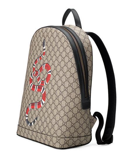 126fbd08a24 Snake-Print GG Supreme Backpack