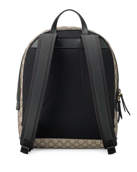 665e131b687e Gucci Snake-Print GG Supreme Backpack