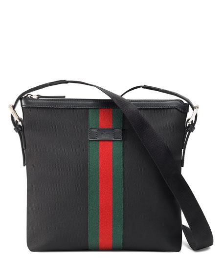 e9f395ce90e2 Gucci Men's Web GG Supreme Messenger Bag