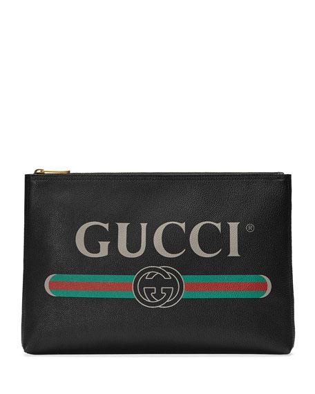 Men's Large Logo Pouch Bag